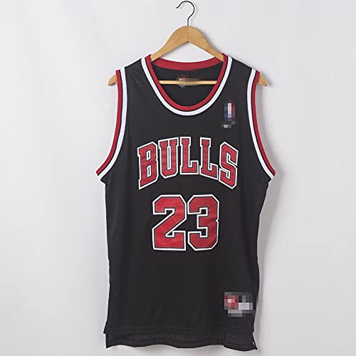 DDYa Jersey Bulls Masculino Campeón de Vintage Michael Jordan Jersey Chicago Bulls # 23 Jersey de Baloncesto Swingman de Malla Bordado, Transpirable, Fresco, Chaleco De Gimnasia, Camiseta Deportiva