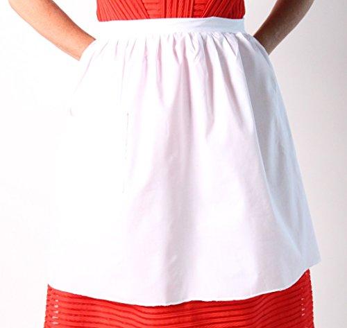 "Mrs. Santa Claus White 18"" Costume Apron"