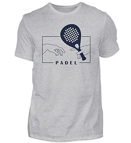 Padel | 01075 - Camiseta para hombre Gris (mezclado). XL