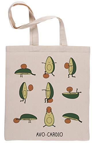 Avo-Cardio Wiederverwendbar Einkaufstasche Reusable Beige Shopping Bag