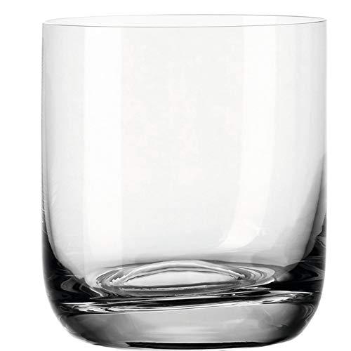 Leonardo Daily Trink-Gläser, 6er Set, spülmaschinenfeste Wasser-Gläser, geradlinige Glas-Becher, Getränke-Set, Saft-Gläser, klein, 320 ml, 063324