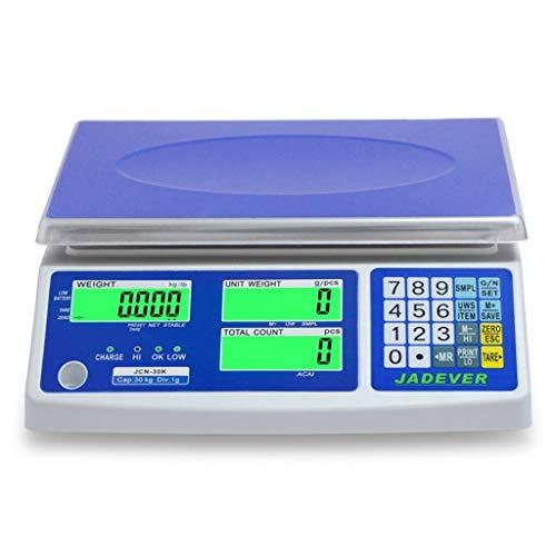 LBBL Báscula Cocina Báscula Digital Acero Inoxidable Sistema Sensor de Alta Precisión 30kg/1g Multifuncional con Temporizador Para Hostelería, Bollería, Frutería (Size : 6kg)