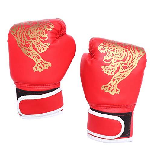 1 par de luvas infantis de boxe para crianças pequenas, Kickboxing, boxe, treino, boxe, luvas para treino de boxe, luvas pesadas para crianças para boxe, Muay Thai MMA vermelha
