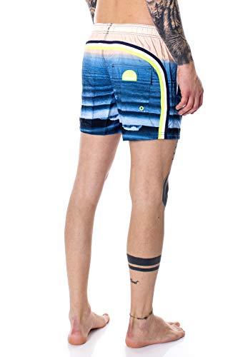Sundek Costume da Bagno Uomo Pantaloncino Mare Vita Elasticizzata M504BDP03WT m Blu