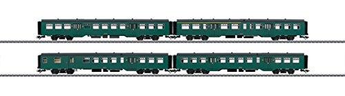 Märklin 43544 Set de 4 voitures de train de banlieue série M2 de la SNCB/NMBS, H0
