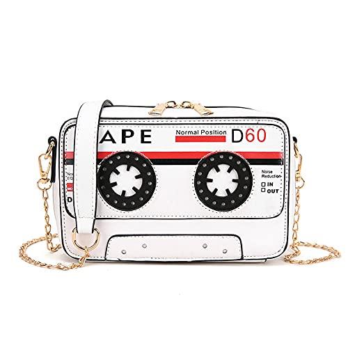 QIANJINGCQ moda todo-fósforo cinta de cinta de personalidad divertida solo hombro bolsa de mensajero bolso de cadena personalidad señora mochila