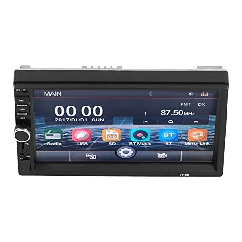 Reproductor de audio para automóvil, radio automática de 7 pulgadas Navegación GPS Radio para automóvil Reproductor MP5 Vista trasera Pantalla táctil Llamada manos libres para modificación de automóvi