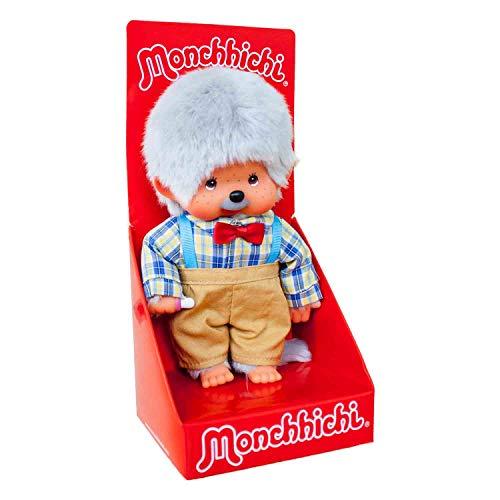Bandai Monchhichi-Peluche-Papi 20 cm, SE23314, Bunt
