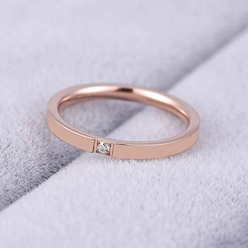 SUNMM 4Mm Groothandel Prachtige Ring Mode Rose Goud Ring Exclusieve Paar Sieraden Voor Mannen En Vrouwen, 4,J7