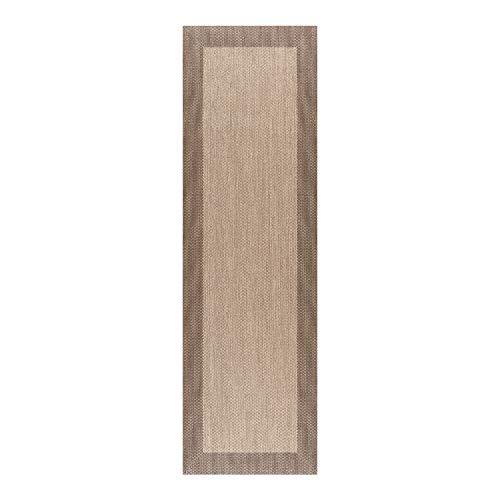STORESDECO - Alfombra Vinílica Deblon, Alfombra de PVC Antideslizante y Resistente, Ideal para Salón, Pasillo, Cocina, Baño… | Color Marrón Claro, 60 cm x 200 cm