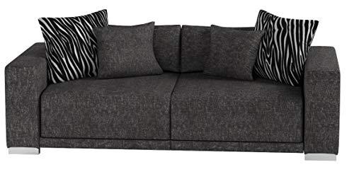 Collection AB Big Sofa London-L Struktur grau, 217x103 cm,