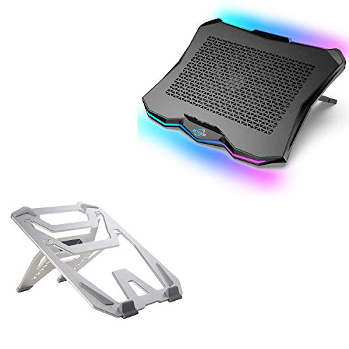 AICHESON AA3 1 Big Fan RGB Lights Laptop Cooling Cooler and X9-SLV Laptop Stand