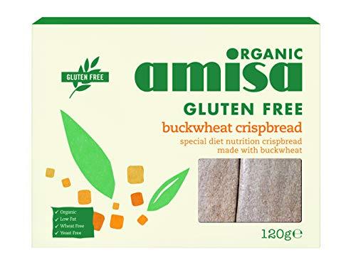 Amisa Organic Gluten Free Crispbread - Buckwheat (150g) - Pack of 6