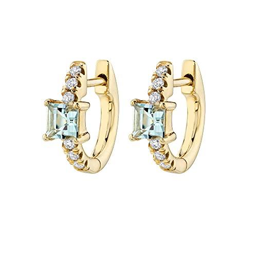 Pendientes Mujer Plata De Ley 925 Azul Claro 8 Mm Huggies Medio Aros Pendiente Especial Cristal Circonita Piercing Pendientes Mujeres Joyería Light Blue