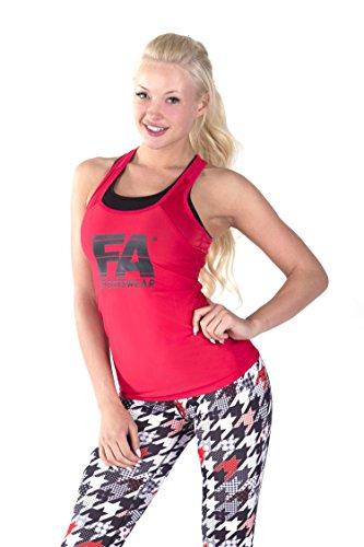 FA Sportswear Basic Damen Tanktop, Rot, S
