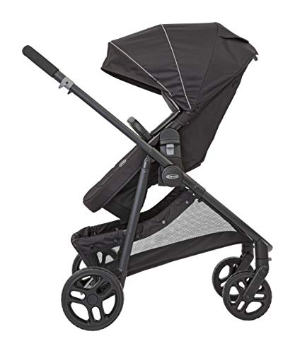 Graco Transform 2-in-1 Pushchair/Stroller (Birth to 4 Years Approx, 0-22 kg), Converts from Pramette to Pushchair, Black Graco Suitable from birth to approx. 4 years (22kg) Convertible pramette to pushchair in a flash. includes a comfy soft new-born liner for the first journey Click connect travel system compatible with graco snug ride/snug essentials i-size infant car seats 5