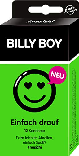Billy Boy Eenvoudig ophangen, condooms, contouren, extra licht afrollen, 12 stuks
