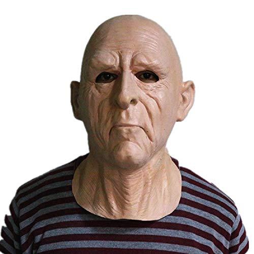 Hengyutoy Mask Alter Mann Opa Maske aus Latex für Großvater Verkleidungen