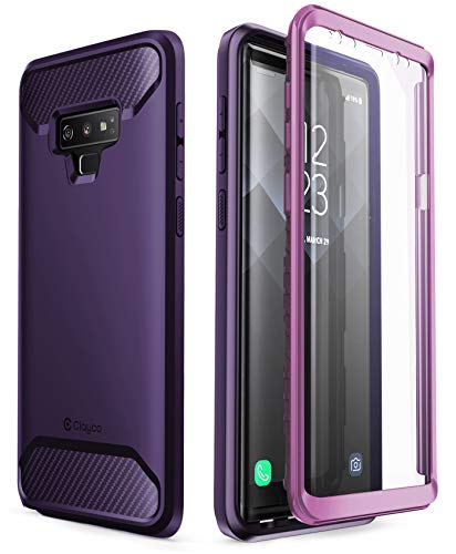 Samsung Galaxy Note 9 Case, Clayco [Xenon Series] Full-Body Rugged Case with Built-in 3D Curved Screen Protector for Samsung Galaxy Note 9 (2018 Release) (Purple)