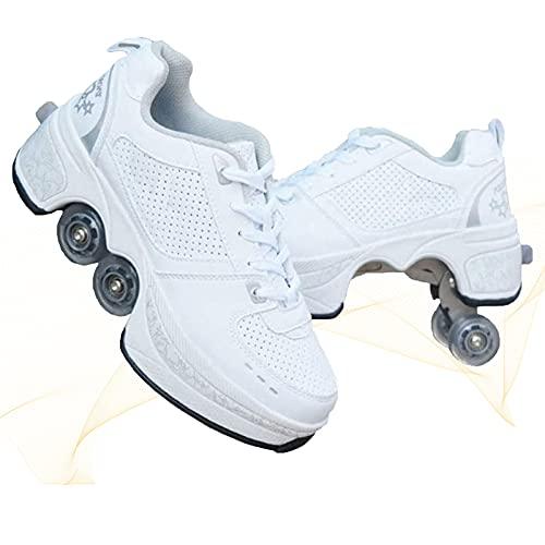 HealHeaters Zapatillas con Dos Ruedas para Niños Y Niña, Zapatos con Ruedas Automática Calzado De Skateboarding