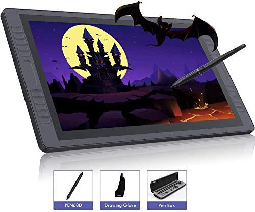 HUION KAMVAS GT-221 Pro Grafische Tablet met Scherm, 21,5 '' Grafische Tekenmonitor met Full HD IPS Ontspiegeld Glazen Scherm, 72% NTSC-gamma, 20 Sneltoetsen en 2 Aanraakbalk