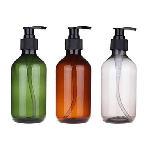 FRCOLOR 3 Pcs 500 Ml Vide Shampooing Lotion Pompe Bouteilles en Plastique Rechargeable Conditionneur Lotion Distributeur pour Voyage à Domicile