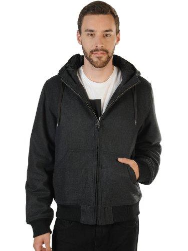 Billabong Herren Winterjacke Buck Wool, Charcoal Heathe, XL, N1JK10