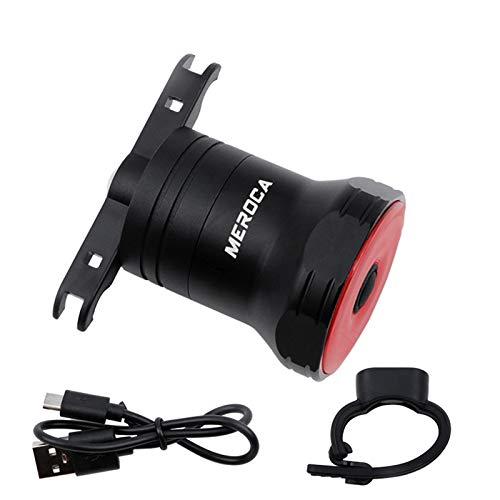 SUPER ONE Smart Bike Rücklicht Ultra hell, USB wiederaufladbare Auto On/Off, IPX6 wasserdichte LED Fahrradleuchten, High Intensity Hintere LED Zubehör passt auf Jede Straße Fahrräder(schwarz)