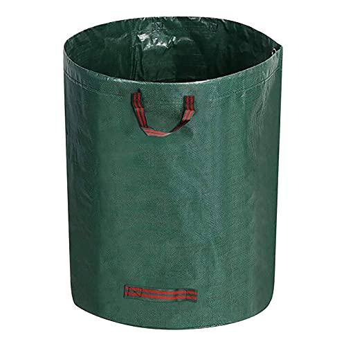WGDPMGM Gartensäcke 2 Stücke Gartenmüllsäcke mit großem Kapazität, zusammenklappbare Müllsammlungen, Wiederverwendbare Blatttaschen (Color : Green, Size : 84x67cm)
