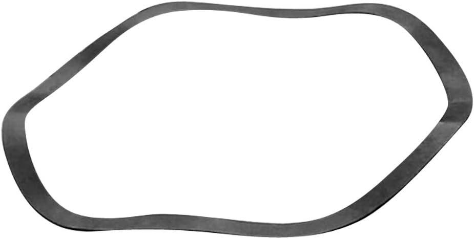 Milageto Round Spring Washer Metal Wave Washer Spring Washer 6/×12/×0.3mm Black