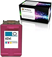 OCProducts Refilled HP 62XL Ink Cartridge Replacement for HP Officejet 5742 5740 8040 Envy 5540 5640 5660 7640 Printers (1 Color)