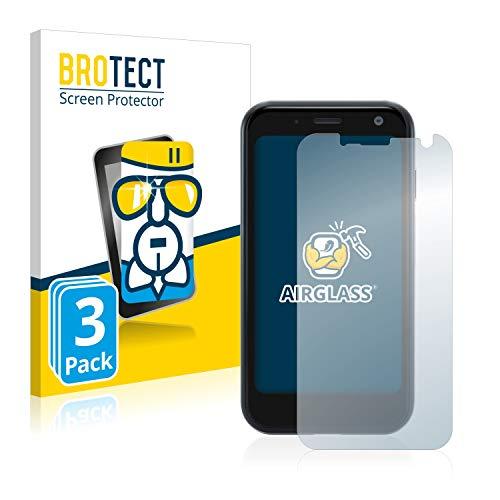 BROTECT Panzerglas Schutzfolie kompatibel mit Palm Mini Smartphone (3 Stück) - 9H Extrem Kratzfest, Anti-Fingerprint, Ultra-Transparent
