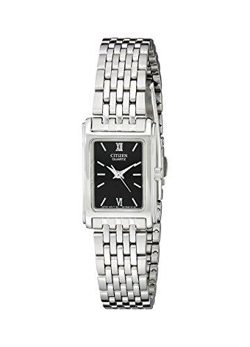 Citizen Quartz Womens Watch, Stainless Steel, Classic, Silver-Tone (Model: EJ5850-57E)