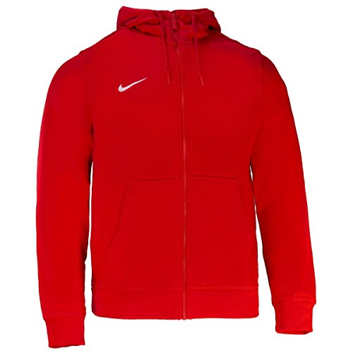 Nike Team Club Fz Hoody - Sudadera con capucha para hombre, color Rojo (University Red/Football White), talla XL