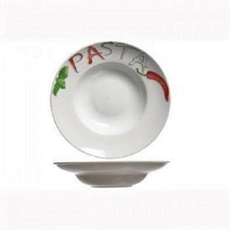 4er Set pâtes Assiette Pâtes Assiette pastabowl Pasta Bowl 28,5 cm environ Noir Evol