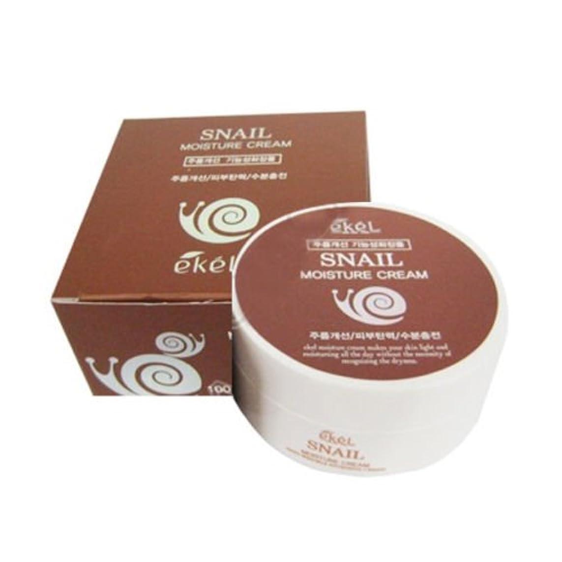 ユダヤ人プレゼンテーションバルブイケル[韓国コスメEkel]Snail Moisture Cream カタツムリモイスチャークリーム100g [並行輸入品]