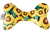 Original Baby Elephant Ears Head Support Pillow for Stroller, Swing, Bouncer, Changing Table, Car Seat, etc. (Luxe Edition Sunflower)