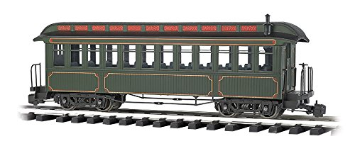 """Bachmann Industries Jackson Sharp Passenger Car & Coach Olive/Gold Lining - Large """"G"""" Scale Rolling Stock"""