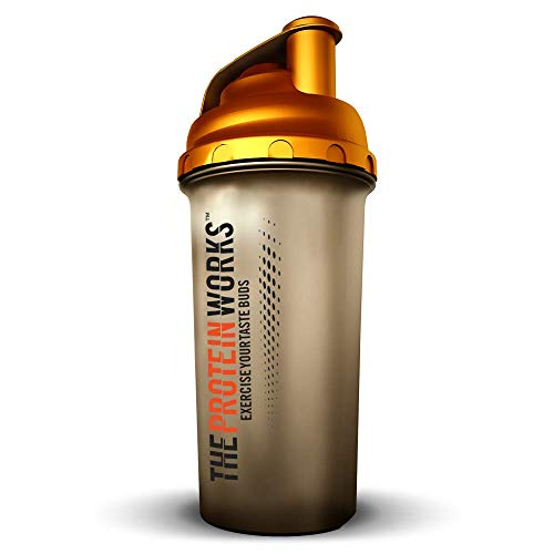 The Protein Works Limited Edition Gold Protein Shaker, Water Bottle, 700 ml