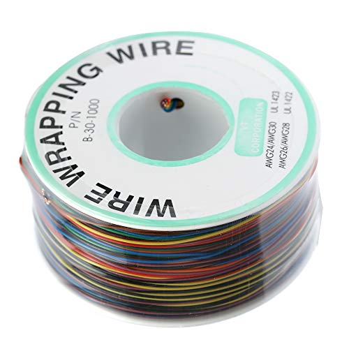 Fesjoy - 250M WIRE WRAPPING DRAHT - Wire-Wrap-Rolle - 250M 8-Draht farbig isoliert 30-1000 30Awg Wire-Wrap-Kabelrolle