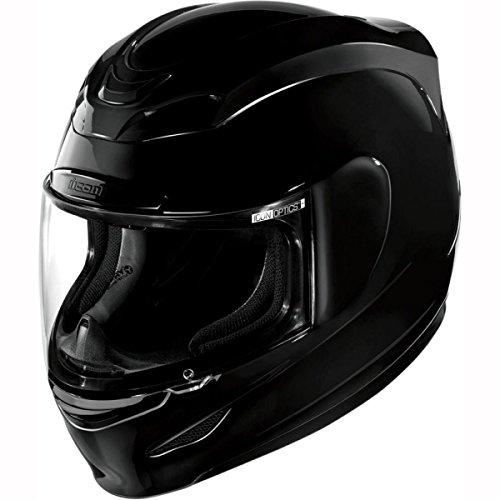 Icon Motorrad airmada glänzend Helm–Schwarz UK-Verkäufer