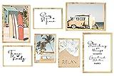 KAIRNE 7er Set Sommer Poster,Premium Poster Set
