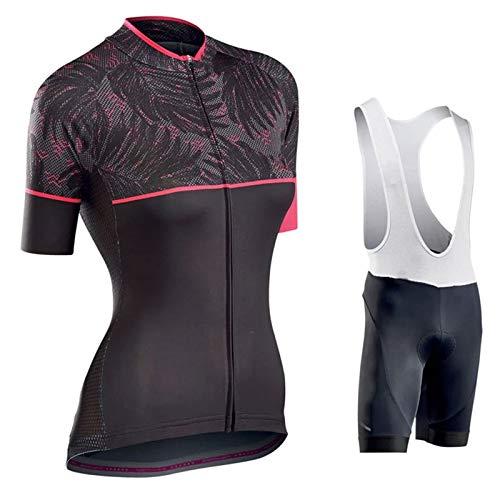 WPW Conjunto de Maillot de Ciclismo para Mujer, Trajes de Ciclismo de Bicicleta de Carretera MTB de Manga Corta de Verano, Ropa de Montar de Secado Rápido (Color : C, Talla : XXXX-Large)