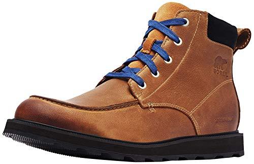 Sorel Men's Madson Moc Toe Waterproof Boots, Elk, Tan, Brown, 11 Medium US