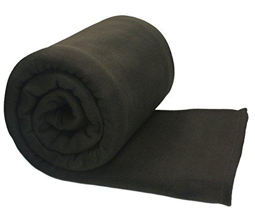 Betz Jumbo Fleecedecke Kuscheldecke XXL Größe: 220 x 240 cm Qualität 200g/m² Farbe dunkel Braun