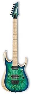 Ibanez RGDIX6MPB Iron Label 6-String Electric Guitar, 24 Frets, Nitro Wizard 3-Piece Neck, DiMarzio Fusion Edge Passive Pickup, Birdseye Maple Fretboard, Surreal Blue Burst