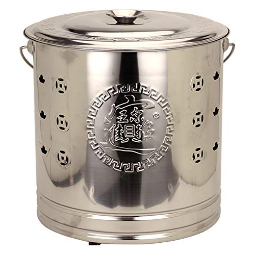 XZZ Stainless Steel Incinerator, Barrel Fire Pit with Grid Frame, Used in Outdoor Backyard, Available in Three Colors and Five Sizes