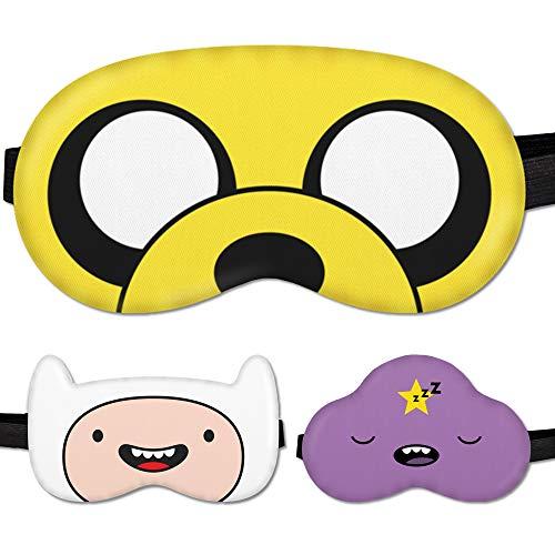 Sleep Mask Kids Children Adventure - 100% Soft Cotton - Comfortable Eye Sleeping Mask Night Cover Blindfold for Travel Airplane (Jake Yellow)