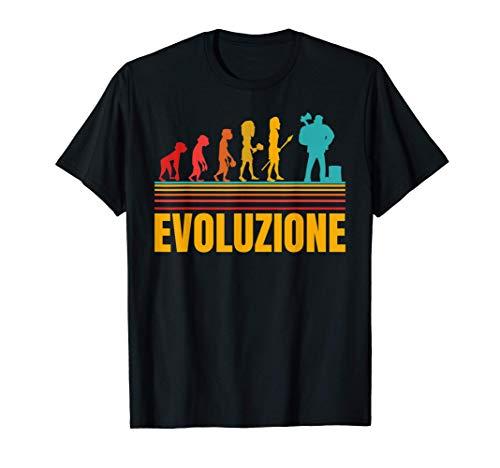 Uomo Boscaiolo Taglialegna Evoluzione Divertente Maglietta