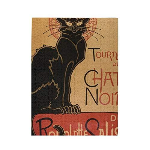 Tour Of Rodolphe Salis Chat Noir   Puzzle de 500 piezas para adultos y adolescentes, para actividades de aburrimiento, para el cerebro, regalo de decoración del hogar